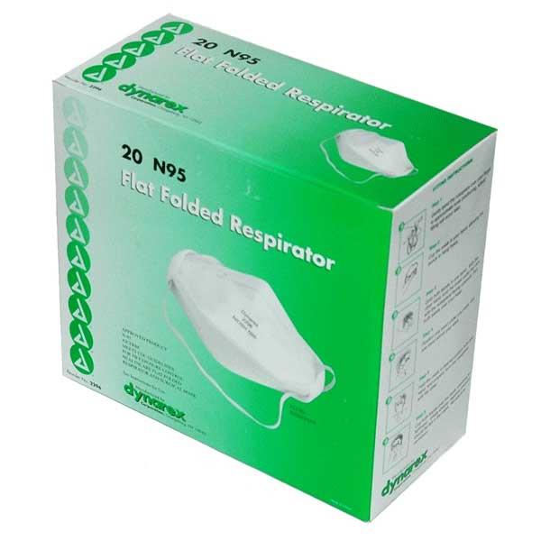 Respirator Particulate Dynarex box 20 Mask N95