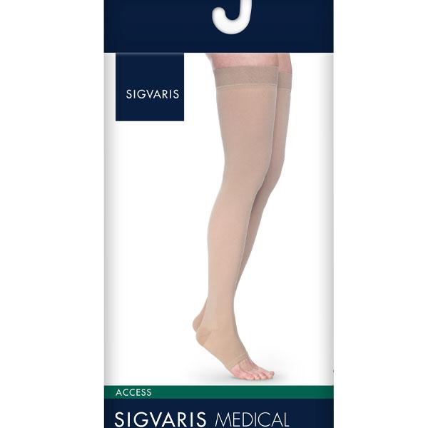 d6a483e1f Sigvaris Access Thigh High Open Toe 20-30mmHg Unisex