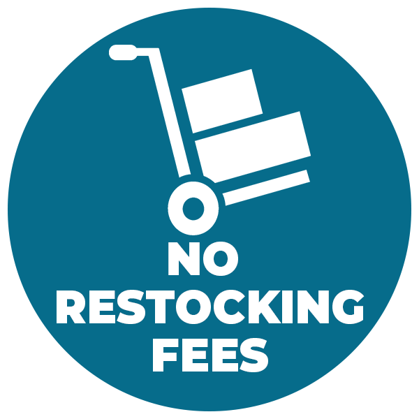No Restocking Fees Icon