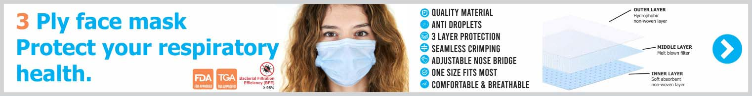 3ply Disposable Face Mask FDA